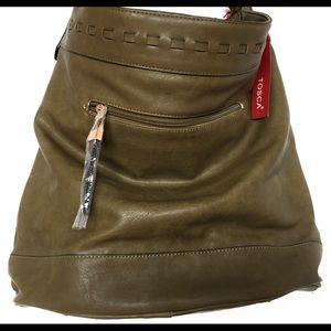 Tosca hobo shoulder bag, Olive
